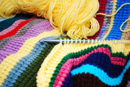 afghan: Crocheting a Colorful Striped Afghan