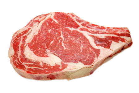 Lean Organic Beef Steak Isolated Over White