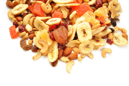Fruit and Nut Trail Mix with Room for Copy Space photo