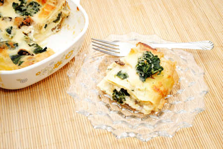 meatless: Healthy Spinach Lasagna Ready to Eat