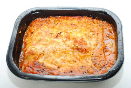 Microwaveable Pasta and Sauce TV Dinner Фото со стока