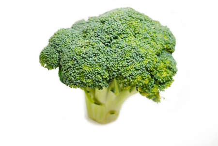 Raw Fresh Broccoli Bunch Over a White Background photo