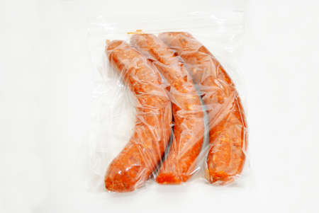hots: Three Hot and Spicy Sausage in a Storage Bag