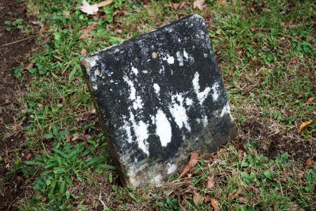 unmarked: A Old Grave Stone in a Historic Cemetery