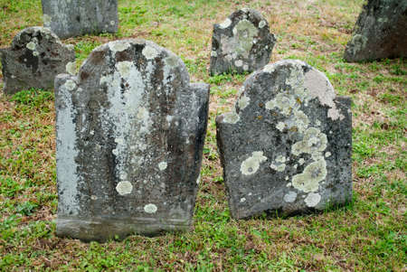 unmarked: Old and Spooky Grave Stones in a Cemetery
