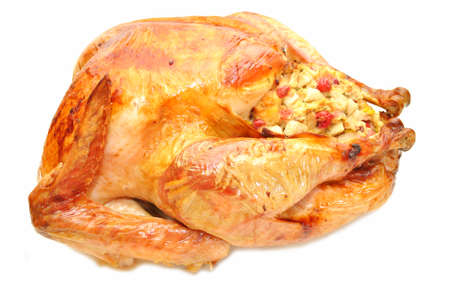 Appetizing Roasted Turkey Stuffed with Cranberry Bread Dressing photo