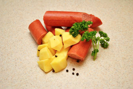 peppercorns: Raw Kielbasa with Potatoes and Peppercorns
