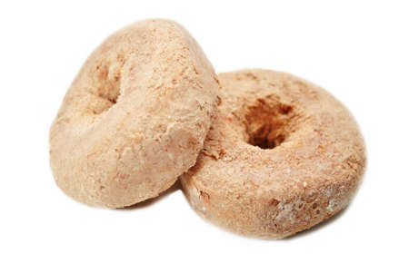 doughnut: Two Powdered Cinnamon Doughnut Isolated on White