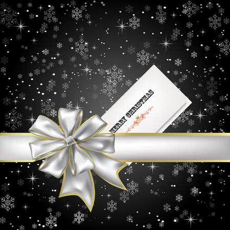 夜雪のクリスマス カードをプレゼント