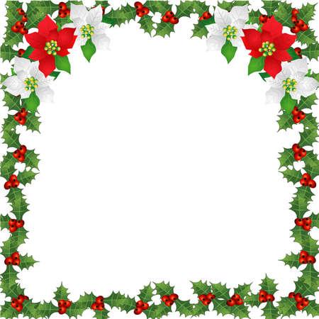 Christmas-Holly Berry Border