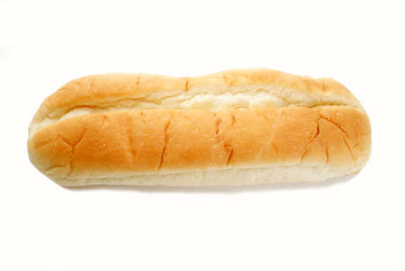 multi grain sandwich: A Fresh Organic Sub Roll Over White Stock Photo