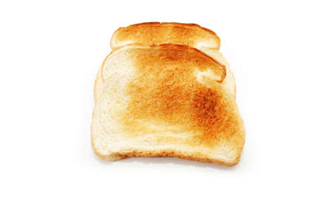 over white: Two Slices of Dry Toast Over White