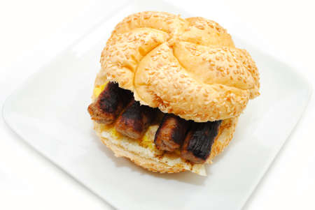 bisquit: Sausage Links, with Egg on a Bun