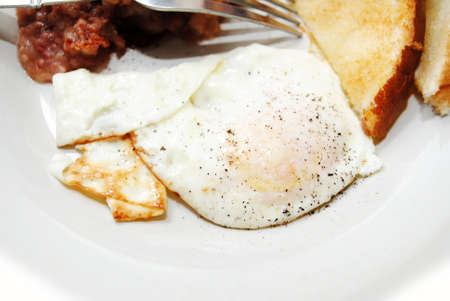 peppered: A Peppered Over Easy Fried Egg