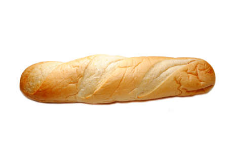 multi grain sandwich: Whole Loaf of French Bread Over White Stock Photo