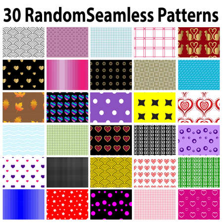 star shaped leaves: 30 Random Seamless Patterns