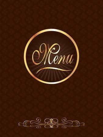 eats: Brown & Gold Gourmet Menu Cover