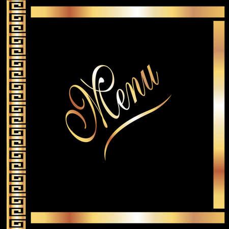 Elegant Black & Gold Menu Cover