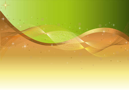 abstract backgrounds: Abstract-Green & Gold