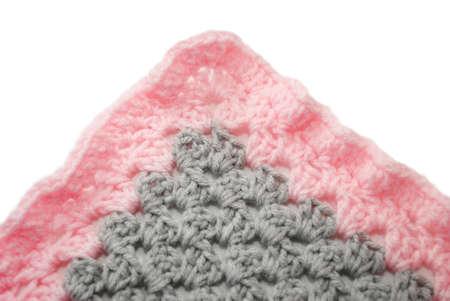 Grey & Pink Crochet Blanket