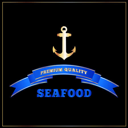 High Quality Seafood Menu Cover or Signage Иллюстрация