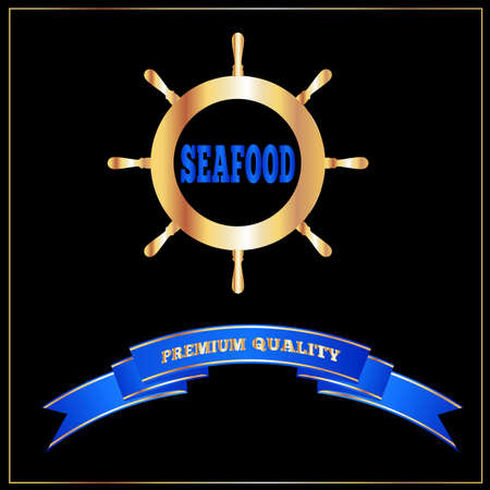 seafoods: High Quality Seafood Menu Signage or Cover