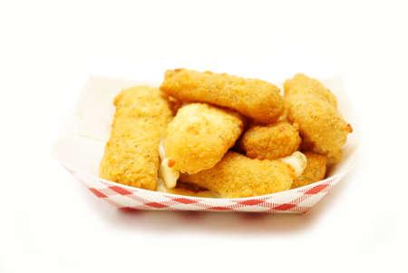 Mozzarella Cheese Sticks in a Fast Food Container