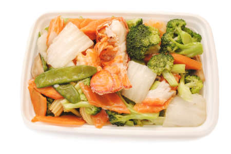 takeout: Chinese Takeout (American) - Seafood with Vegetables