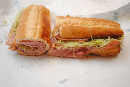 hoagie: Takeout Ham Sub Ready to Eat