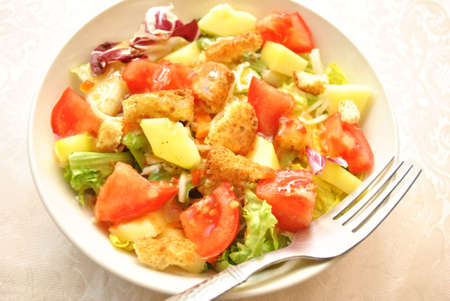 appetizing: Cold Appetizing Vegetable Salad with Vinegarate Dressing