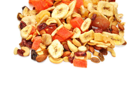 papaya flower: Fruit and Nut Trail Mix with Copy Space