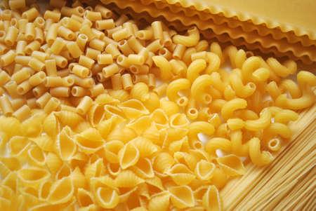 Dos de différents types de pâtes Banque d'images - 76128472