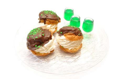 Irish Creme Puffs with Irish Shots