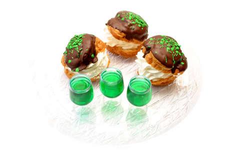 Irish Shots With Creme Puffs