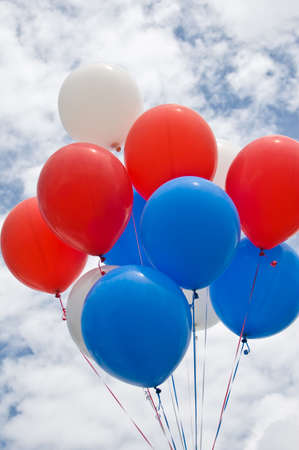 Colorful Balloons On A Cloudy Day Stock Photo - 7341415