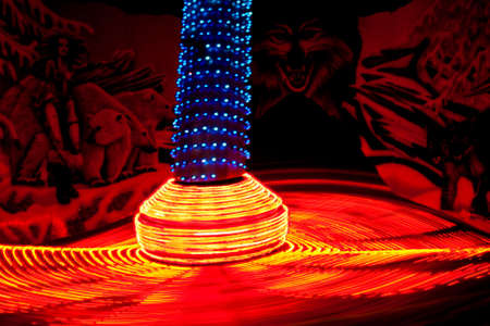 Amusement ride with lights at the fair  photo