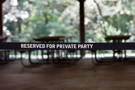 Reserved for private party sign in black and white