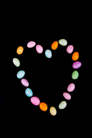 Heart made using jellybeans for the letters Stock Photo - 9154023