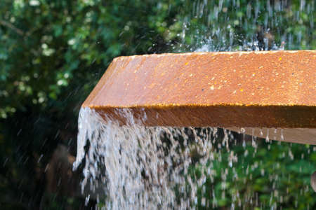 Water fountain with water spilling over and splashing Stock Photo - 10194955