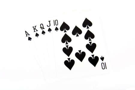 straight flush: Ace high royal straight flush poker hand