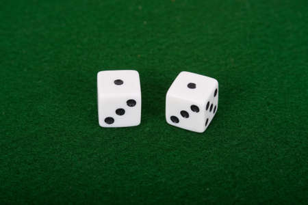 Snake eyes rolled on a pair of dice