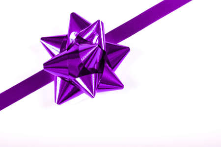 Purple ribbon and bow for a perfect gift wrap