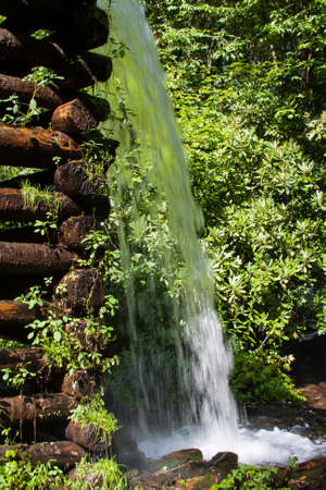 Waterfall at a Mill without a rainbow Stock Photo