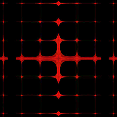Red lines abstract art on a black background