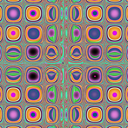 Orange green and purple abstract art background