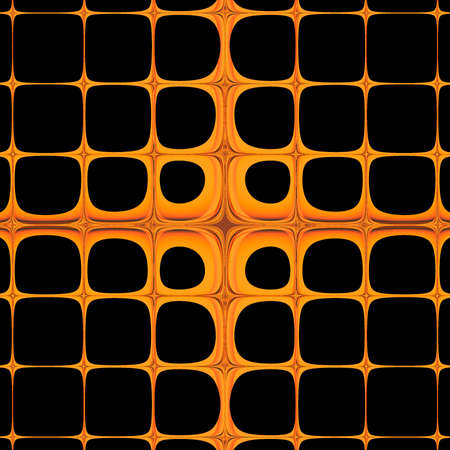 Hot orange and black abstract art background