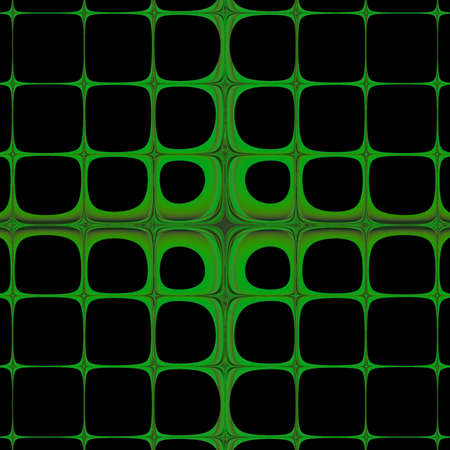 Abstract green squares art on a black background