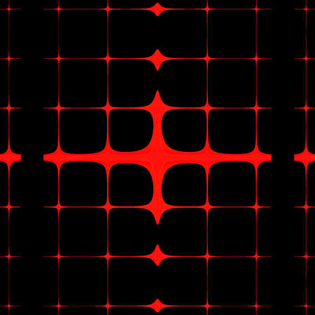 Bright red lines abstract art on a black background