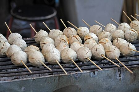 Meat ball grilled Stock Photo - 16953090