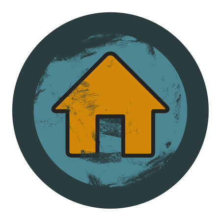 grunge house icon, graphic design element Vector